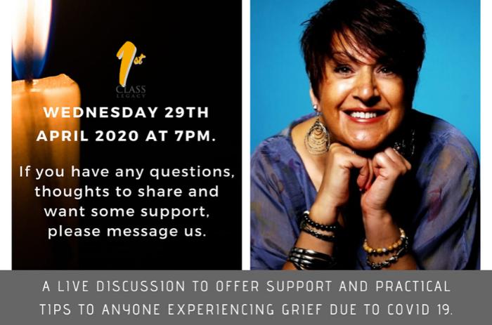 A live webinar with Debbie Singh talking about grief #KitchenTableTalks