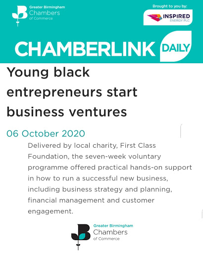 Chamberlink Daily – Young black entrepreneurs start business ventures