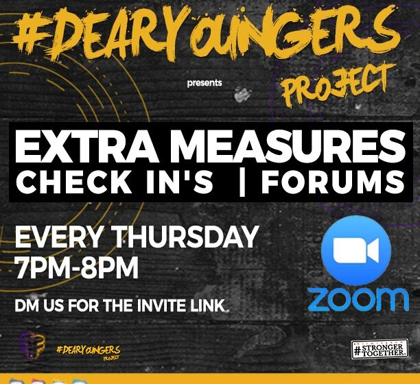 #Dearyoungers Online Forum – Extra Measures Check In's