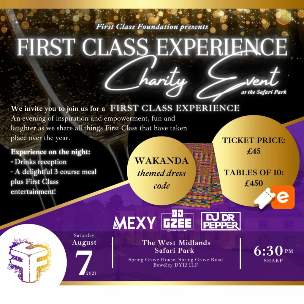 First Class Experience Charity Event join us